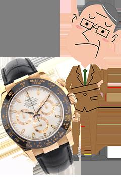 時計とサラリーマンの画像